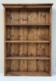 Wall Cabinet Shelf Rustic Spice And Herb Rack Dark Oak Finish 4 Shelves Wall
