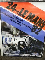 porsche turbo poster original 24 hours of le mans 956 porsche poster aase sales