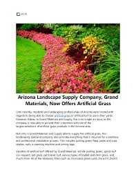 Landscape Supply Company by Arizona Landscape Supply Company Grand Materials Now Offers Artific U2026