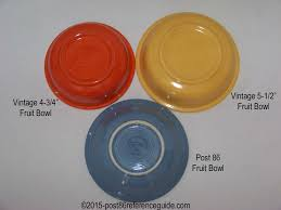 fiestaware pink comparison bowls post 86 reference guide