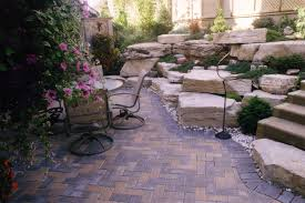 Small Paver Patio by Outdoor Small Backyard Landscaping Ideas With Installing Flagstone