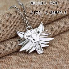 medallion necklace silver images Hot sale game pendant choker necklace wizard witcher 3 medallion jpg