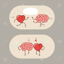 friendship heart the brain and the heart of and friendship a set of vector