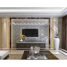 glass interlocking mosaic tile silver 304 stainless steel tile