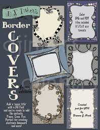 printable clip art borders for elegant cover pages by dj inkers