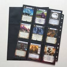 pocket pages 20pcs lot trading card protectors black album pages sided 9