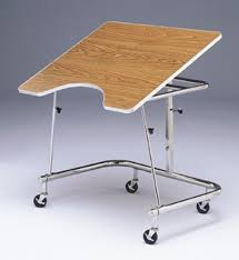 Heavy Duty Table by Heavy Duty Mobile Adjustable Height Wheelchair Table