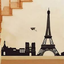 amazon com large i love paris eiffel tower city silhouette wall