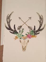 23 deer antler tattoos designs and stencils