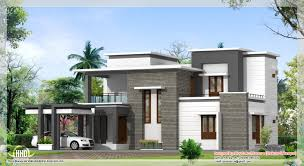 flat home design box type single floor home plan kerala design and plans remarkable