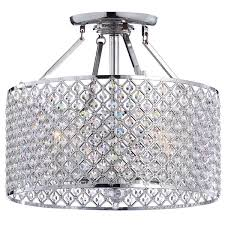 Decorative Chandelier Ceiling Plate Chrome Crystal 4 Light Round Ceiling Chandelier Free Shipping