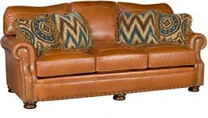 Easton Leather Sofa L King Hickory Array From - Hickory leather sofa