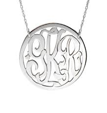 3 initial monogram necklace sterling silver jewelry monogram necklace sterling silver or gold