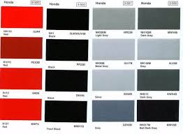 honda paint color chart ideas factory honda paint colors 2017