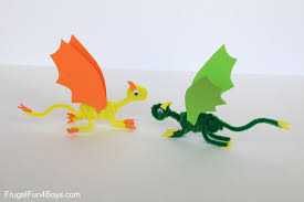 pipe cleaner dragons craft kids