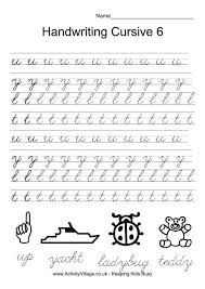 handwriting practice cursive 6 smart kids printables