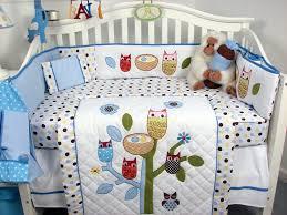 Soho Crib Bedding Set Soho Blue Owl Tree Baby Crib Nursery Bedding Set 13