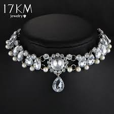 vintage silver choker necklace images 17km boho collar choker water drop crystal beads choker necklace jpeg