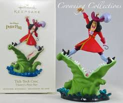 2008 hallmark tick tock croc captain hook disney ornament pan