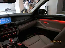 bmw dashboard at night anyone done ambient led trim light along dash doors
