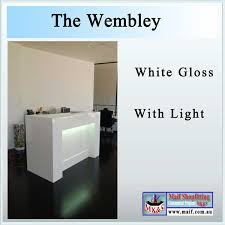 Timber Reception Desk Wembley Reception Desk Black Or White Gloss