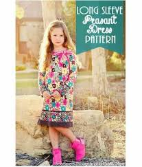 free pattern long sleeved peasant dress for little girls u2013 sewing