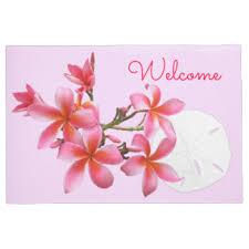 Hawaiian Doormats Plumeria Doormats U0026 Welcome Mats Zazzle
