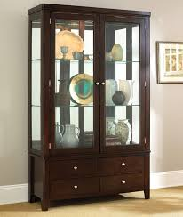 corner dining room cabinets steve silver wilson contemporary dark brown china cabinet with