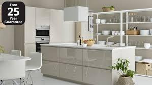 ikea high gloss kitchen cabinets voxtorp high gloss light beige kitchen ikea ireland