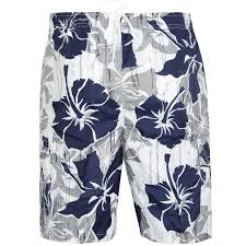 mens boys summer hawaiian flower surf shorts elasticated beach