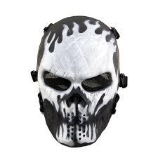 Black Mask Halloween Costume Aliexpress Buy Average Cosplay Black Face Skull