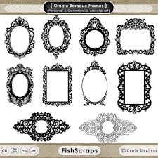 photoshop clipart baroque pattern pencil and in color photoshop