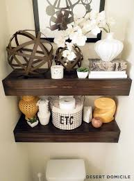 Floating Shelves For Bathroom by Diy 15 Chunky Wooden Floating Shelves Desert Domicile