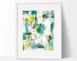 teal abstract etsy