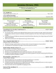 resume templates for medical assistants 16 free medical assistant resume templates