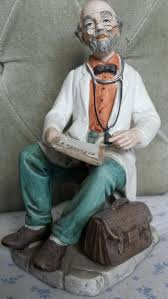 capodimonte figurine signed md doctor vintage collectable ornament