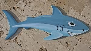 shark wall hanging wood shark cut out kids room decor beach