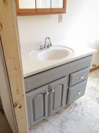 Repaint Bathroom Vanity by Painted Bathroom Vanity Michigan House Update Liz Marie Blog