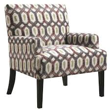 Oversized Accent Chair Ottoman Appealing Geometric Patterned Accent Chair Red