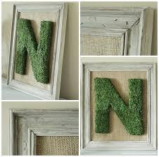 Monogrammed Home Decor Diy Moss Monogrammed Letter Frame Hometalk
