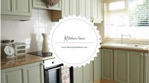kitchen tour and how i painted my kitchen cabinets using chalk
