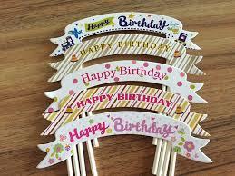 deco cake topper aliexpress buy 100pcs lot happy birthday decoration birthday