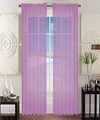 Lavender Window Curtains 2 Solid Lavender Purple Sheer Window Curtains