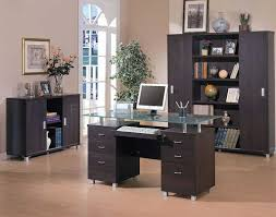 Ultra Modern Desks by Furniture Unusual Dark Brown Teak Modern Home Office Desks With 3
