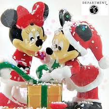department 56 disney mickey minnie mouse snow globe