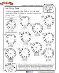 it u0027s about time free math worksheet for kindergarten jumpstart