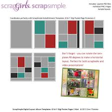 8 5 x11 photo album scrapsimple embellishment templates 8 5x11 digi pocket page