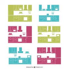 Kitchen Design Free Kitchen Design Silhouettes Collection Vector Free Download