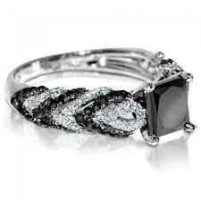 princess cut black engagement rings black engagement ring