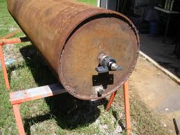homemade ground roller close up of drain plug and pillow bearing